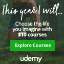 Udemy Discounts: All Courses $10 until this Thursday